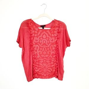 J Crew Linen Embroidered Top